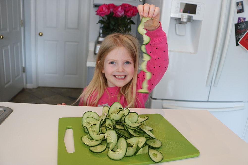 Cucumber Noodle Greek Salad recipe