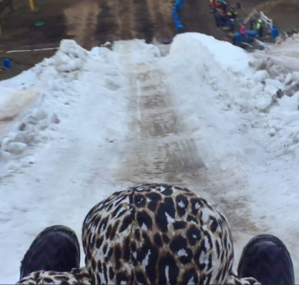 Snow Tubing in NC at Moonshine Mountain