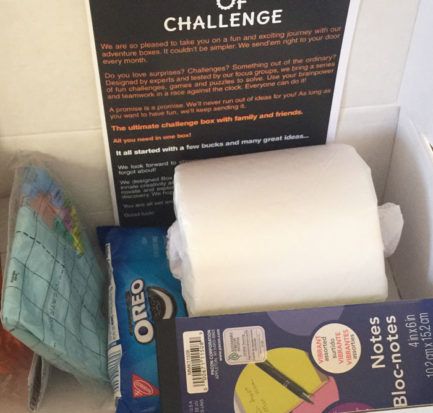 box of challenge monthly subscripton box