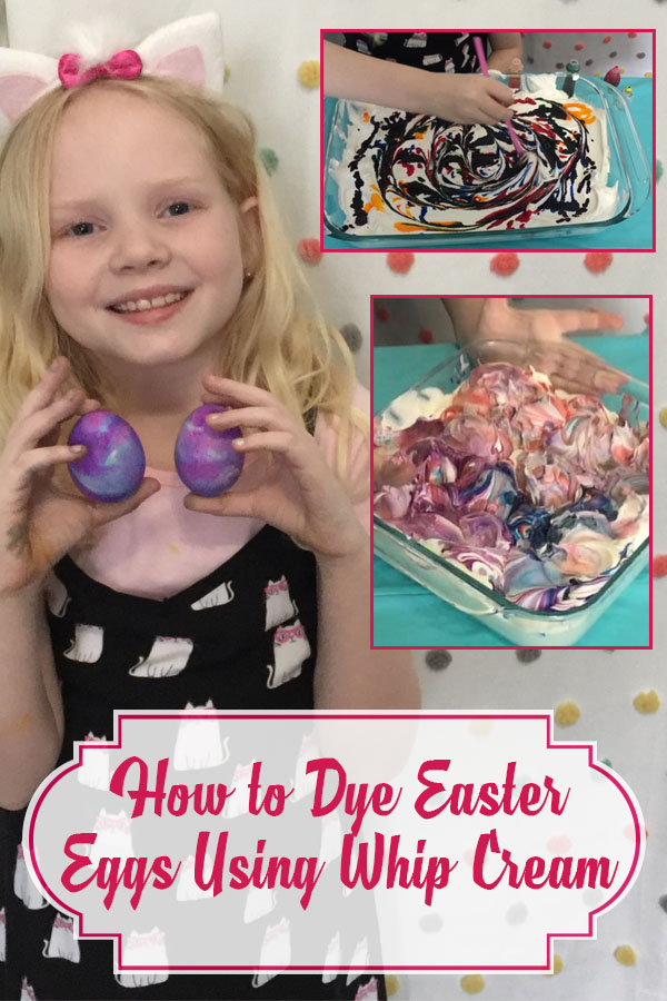 how to dye easter eggs with whip cream