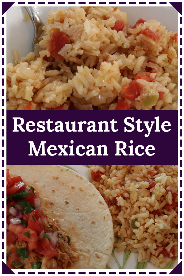 authentic restaurant style mexican rice recipe