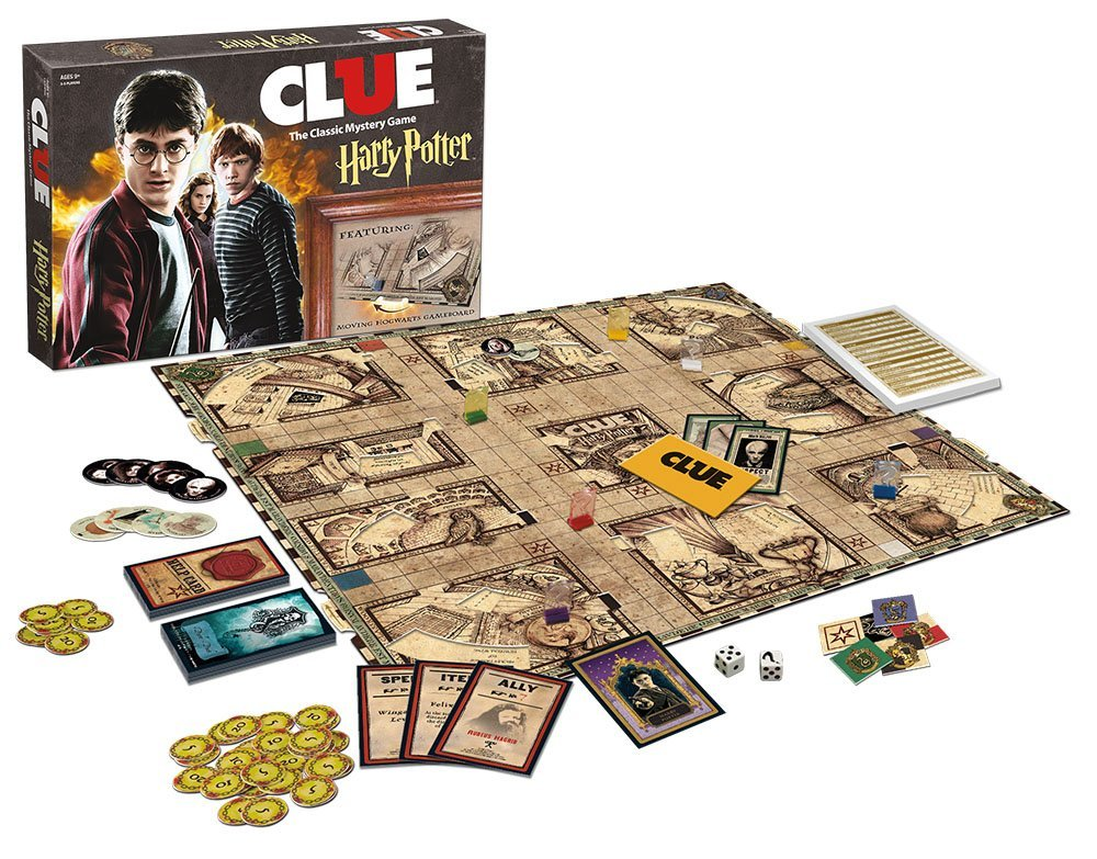 best game for family game night harry potter clue