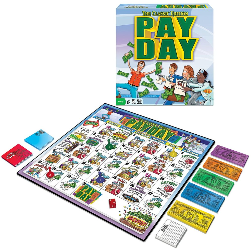 best games for family game night pay day
