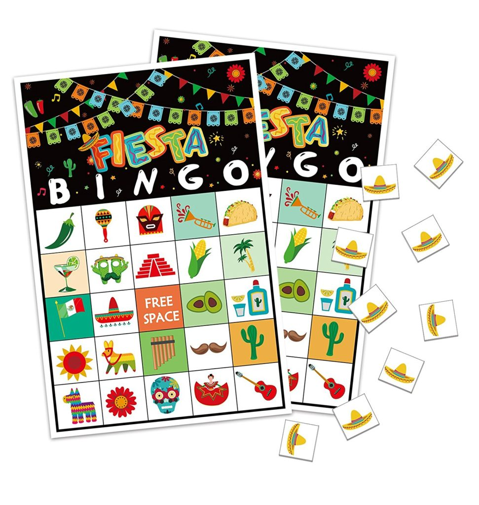 cinco de mayo party ideas fiesta bingo game