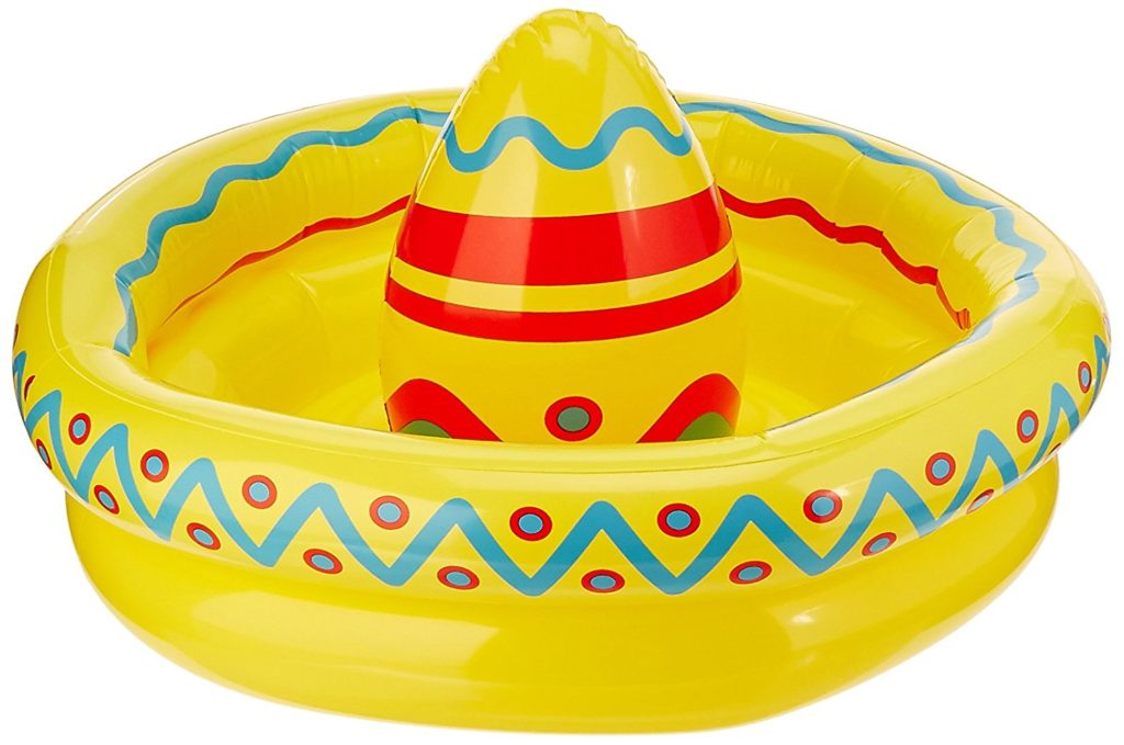 cinco de mayo party ideas inflatable sombrero cooler