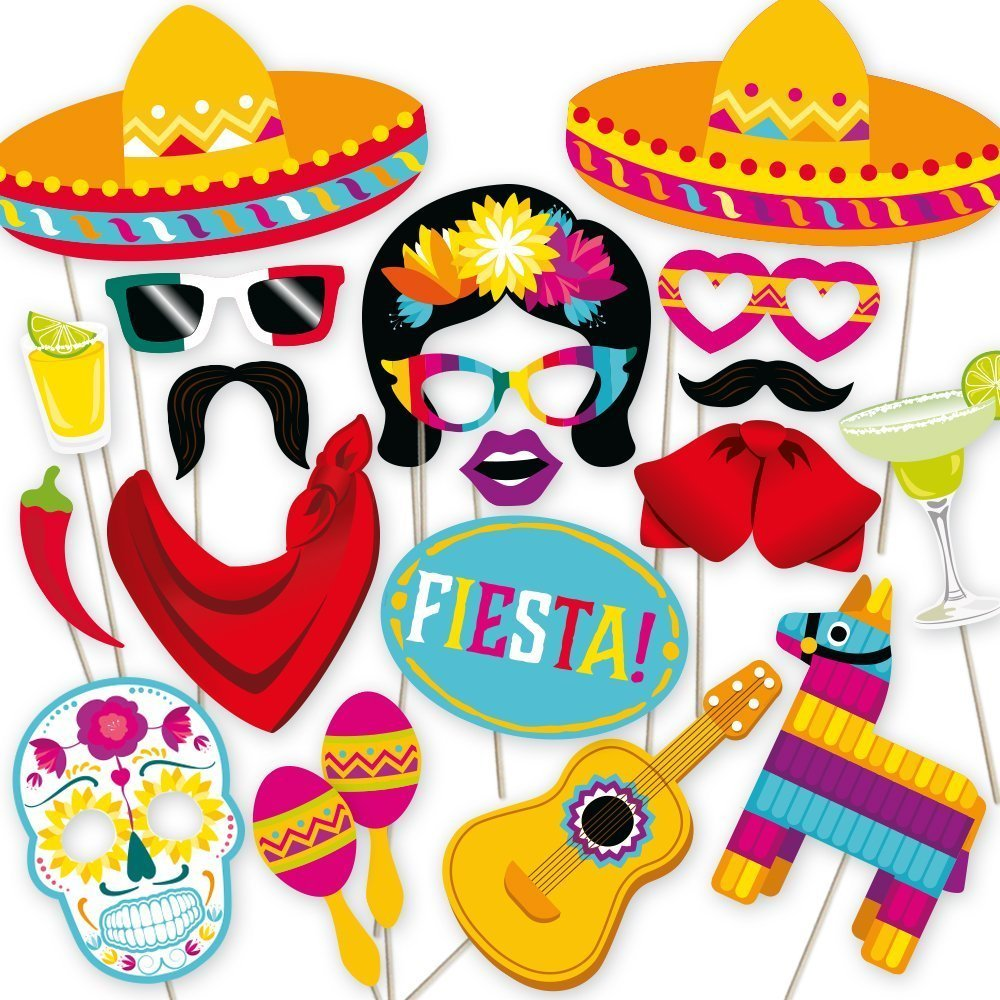 cinco de mayo party ideas photo booth props