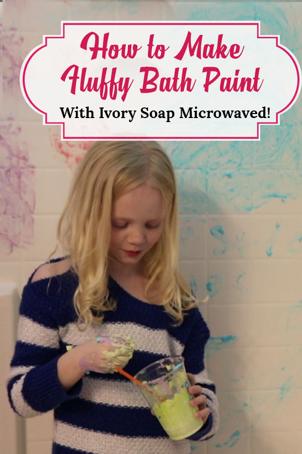 ivory soap experiment fluffy homemade bath paint diy