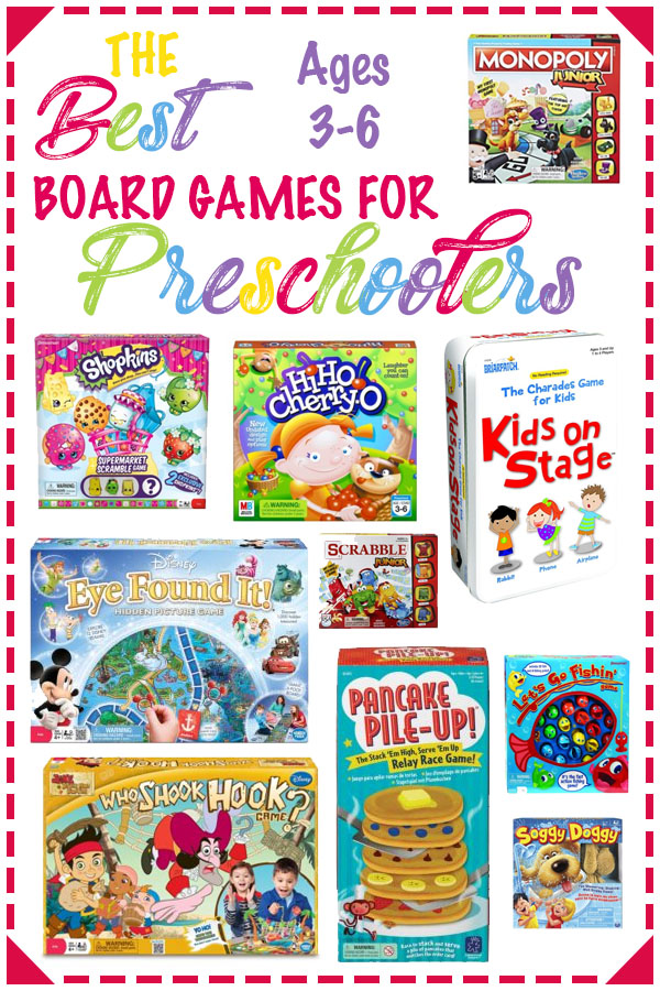 best board games for preschoolers pin