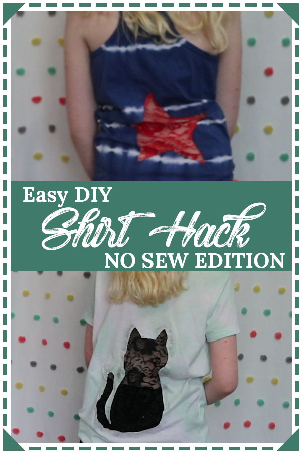 easy diy shirt hack no sew edition