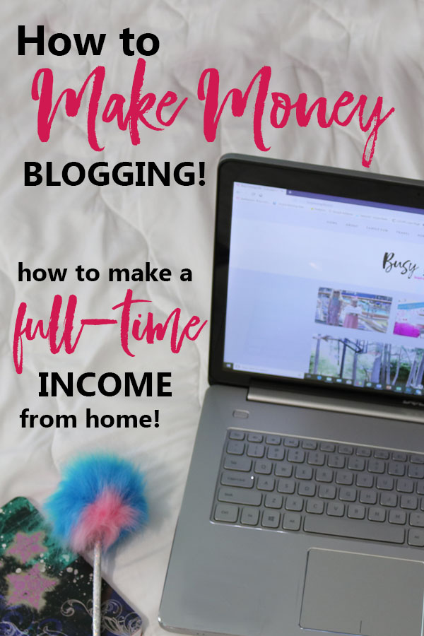 how to make money blogging pin