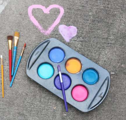 DIY sidewalk paint chalk