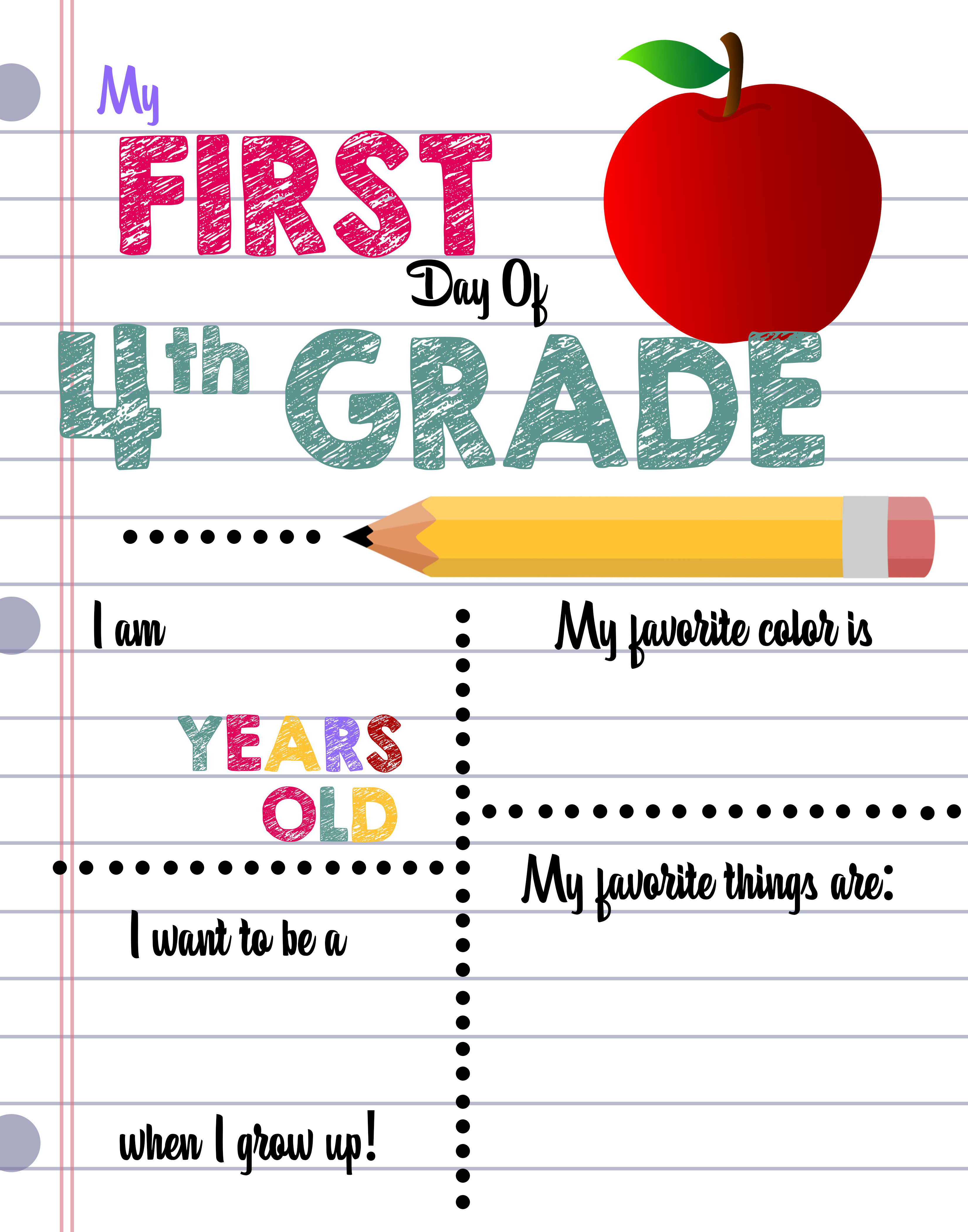First Day of School Printable Sign Custom Print Outs ...
