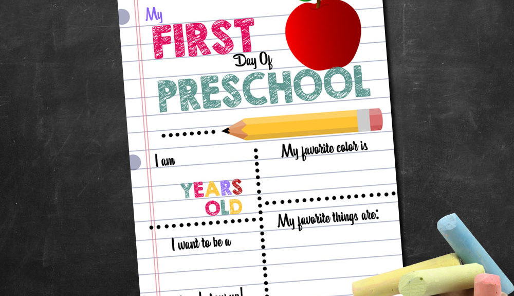photograph relating to First Day of School Printable titled 1st Working day of College Printable Indicator Personalized Print Outs - Active