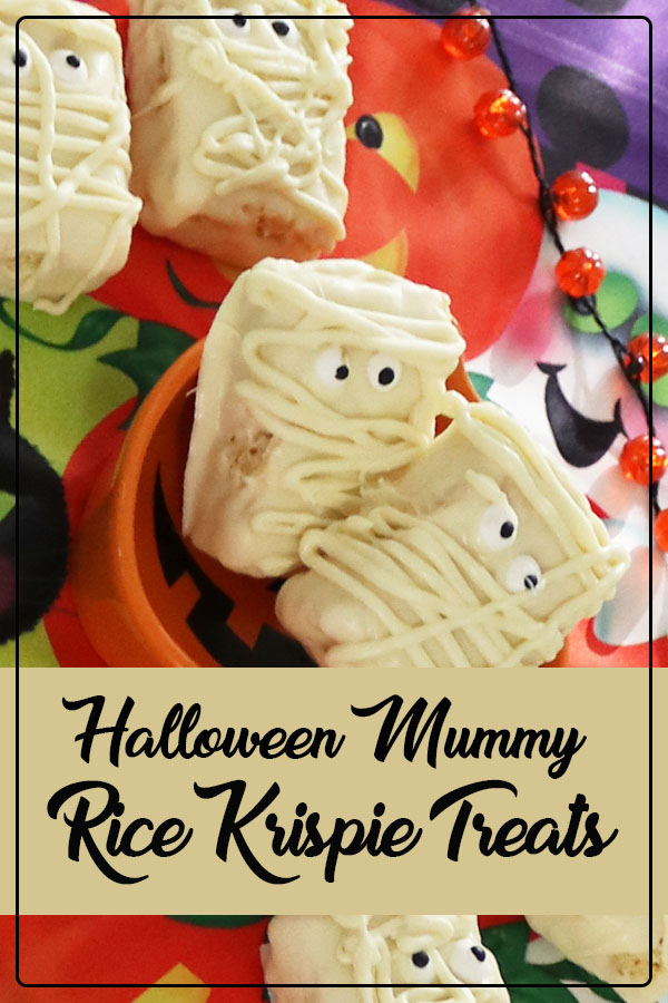 rice krispie treat mummies halloween party